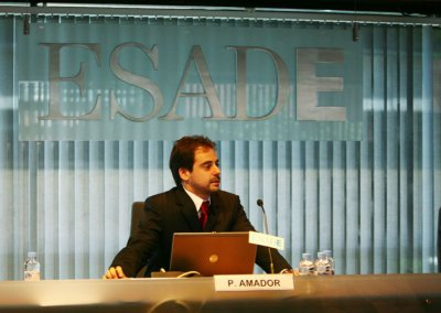 Conferencista Pedro Amador en Esade
