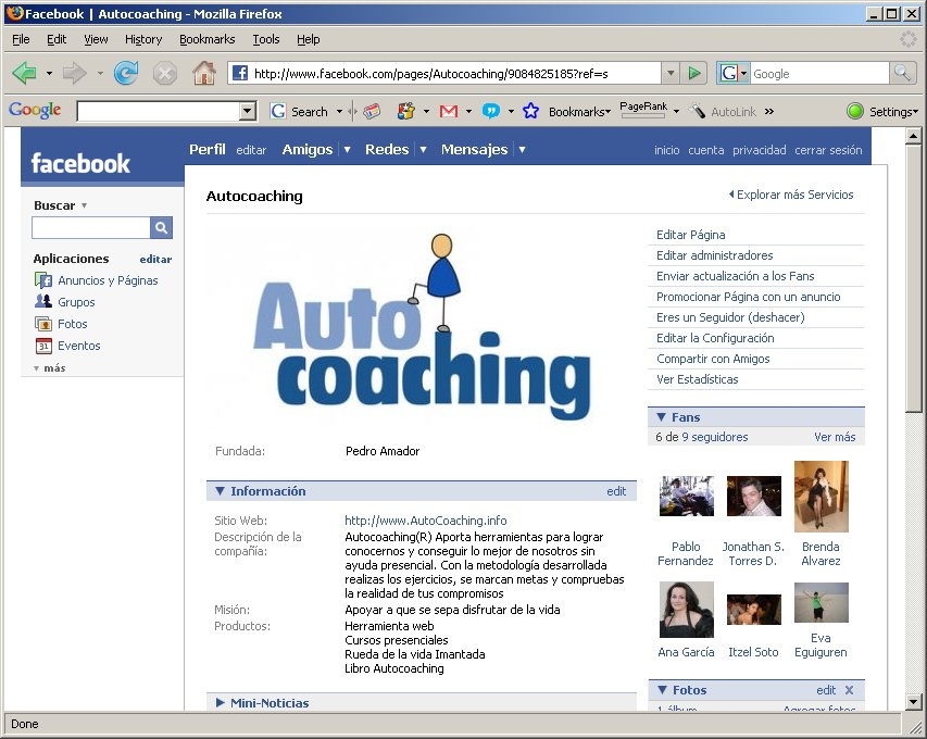 Entrada de la página web deAutocoaching