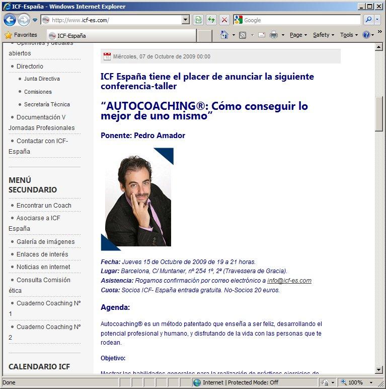 Página web <a class=