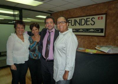 Con Ivonne Reyes en Caracas