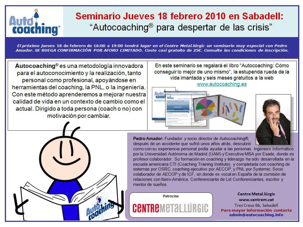Seminario 18 de febrero en Sabadell
