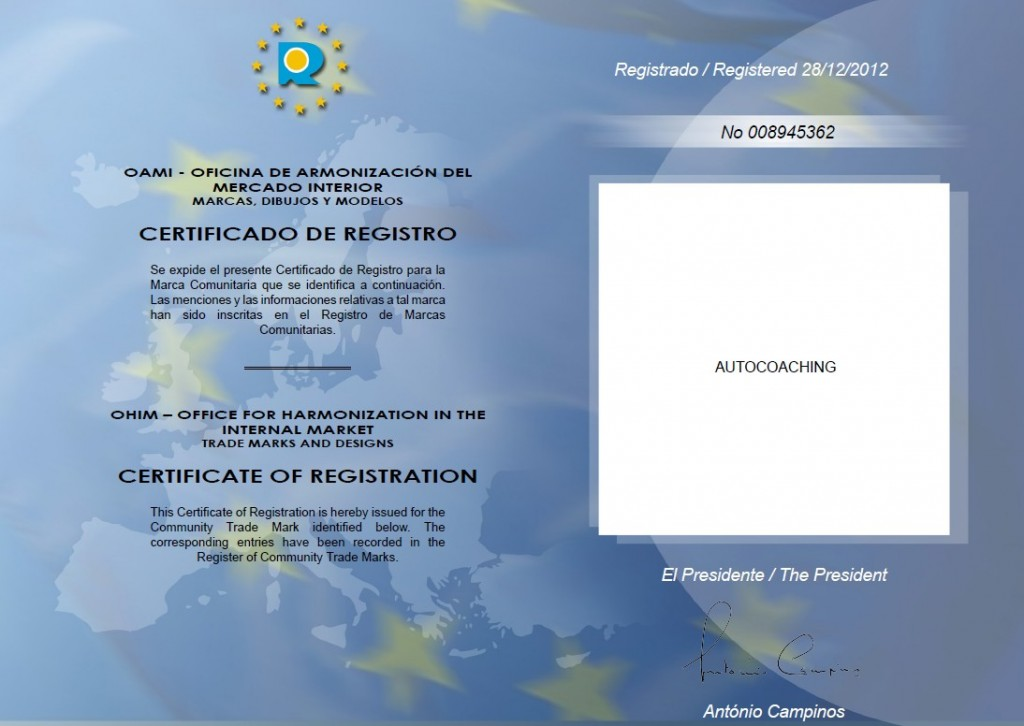 registro OAMI Autocoaching