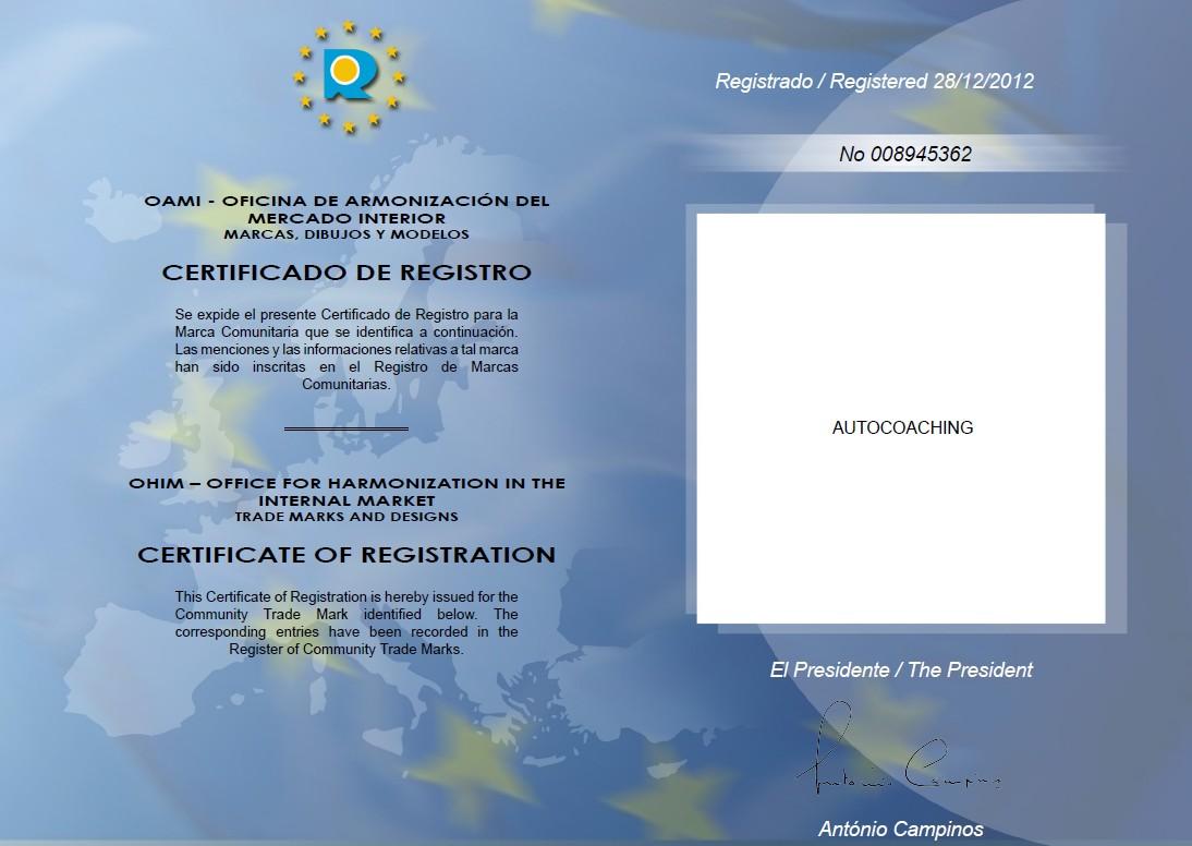 registro OAMI Autocoaching
